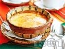 Рецепта Шкембе чорба от телешко с прясно мляко, брашно и яйца за застройка
